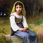 Meditation, Adolphe William Bouguereau