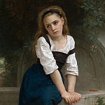 Adolphe William Bouguereau - An orphan at the source
