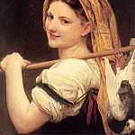 Adolphe William Bouguereau - Returned from the market