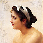 Study of Girl, Adolphe William Bouguereau