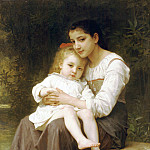 The eldest sister, Adolphe William Bouguereau