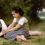 The Nut Gatherers, Adolphe William Bouguereau
