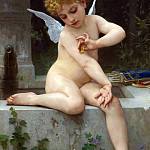 Cupid with butterfly, Adolphe William Bouguereau