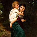 The Crossing of the Ford, Adolphe William Bouguereau