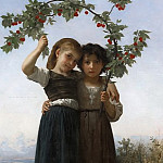 THE CHERRY BRANCH, Adolphe William Bouguereau