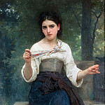 Sewing girl, Adolphe William Bouguereau