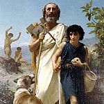 Adolphe William Bouguereau - Homer and his guide