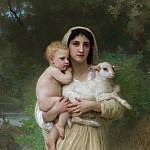 The lambs, Adolphe William Bouguereau
