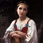 Bohemienne au Tambour de Basque, Adolphe William Bouguereau
