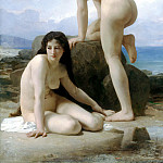 The two bathers, Adolphe William Bouguereau