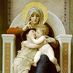 Adolphe William Bouguereau - The Virgin and Child Jesus and St. John the Baptist
