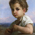 FLUTE PLAYER, Adolphe William Bouguereau