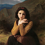 Mignon Pensive, Adolphe William Bouguereau