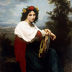 Adolphe William Bouguereau - Italian woman with a tambourine