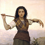 The Little Shepherdess, Adolphe William Bouguereau