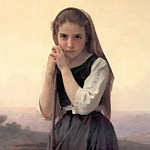 Young Shepherdess, Adolphe William Bouguereau
