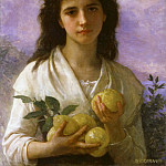 Girl Holding Lemons, Adolphe William Bouguereau