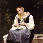 Adolphe William Bouguereau - A young working woman