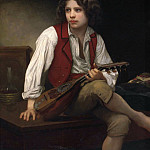 Italian boy with a mandolin, Adolphe William Bouguereau