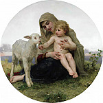 Virgin and Lamb, Adolphe William Bouguereau