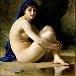 Adolphe William Bouguereau - Seated bather