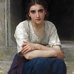 Adolphe William Bouguereau - Reverie on the threshold