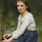 Girl With Grapes, Adolphe William Bouguereau