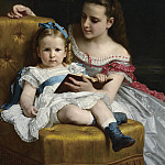 A portrait of Eva and Frances Johnston, Adolphe William Bouguereau