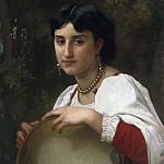 Adolphe William Bouguereau - Italian with a tambourine