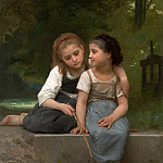 Adolphe William Bouguereau - Fishing For Frogs
