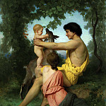 Idylle: famille antique, Adolphe William Bouguereau
