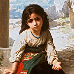 A little beggar, Adolphe William Bouguereau