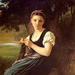 Adolphe William Bouguereau - The Knitting Girl