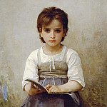The difficult lesson, Adolphe William Bouguereau