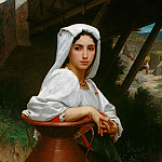 Adolphe William Bouguereau - Italian Girl Drawing Water