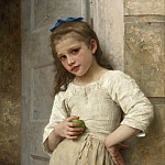 YVONNE AT THE DOOR, Adolphe William Bouguereau