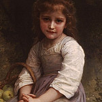 Adolphe William Bouguereau - Little Girl with a Basket of Apples