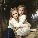 Two Sisters, Adolphe William Bouguereau