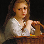 Young Girl with a Basket of Fruit, Adolphe William Bouguereau