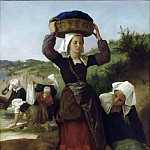 Adolphe William Bouguereau - Washerwomen of Fouesnant