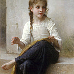 The seamstress, Adolphe William Bouguereau