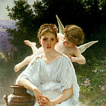Whisperings of Love, Adolphe William Bouguereau