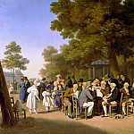 Politicians in the Tuileries Gardens, 1832, Louis Leopold Boilly