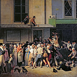 The Entrance to the Theatre before a Free Performance, 1819, Louis Leopold Boilly