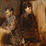Franz von Lenbach - Two young shoemaker