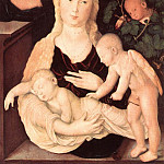 Hans Baldung Grien - Virgin Of The Vine Trellis