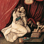 Hans Baldung Grien - Virgin And Child In A Room