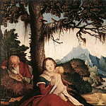 Hans Baldung Grien - Rest On The Flight To Egypt