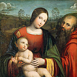 Girolamo Muziano - Madonna and Child with Saint Jerome