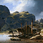 Adolf Schrodter - Solsvik fishing village, Norway